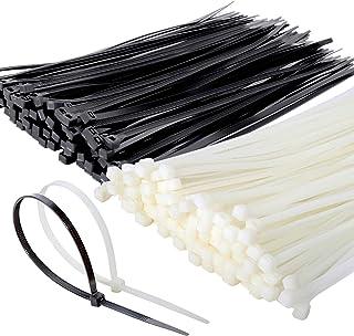 結束バンド Leobro ケーブルタイ 4.5mm×250mm 黒 白各100本 ナイロン結束バンド 耐候性タイプ 室内 室外用 配線整理 ケーブルまとめ