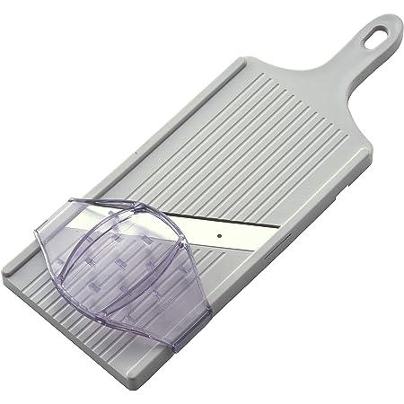 サンクラフト キャベツ スライサー 千切り 薄さ1mm ふわふわお店の仕上がり 幅広14cm ワイド 安全ホルダー付 日本製 ホワイト BS-271