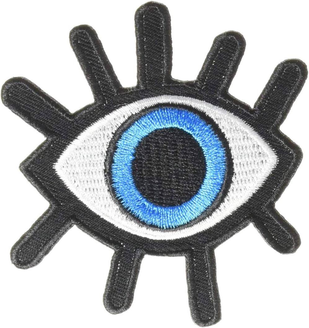 Pack Fresno Mall of 3 Eye eyeball tattoo Max 60% OFF retro appliq occult goth wicca punk