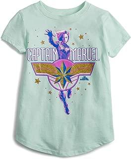 Jumping Beans Little Girls' 4-12 Captain Marvel Star Tee