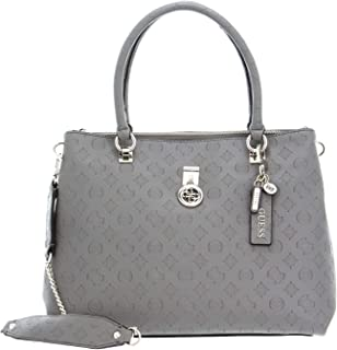 GUESS Damen Schultertasche Ninnette Society Carryall Taupe