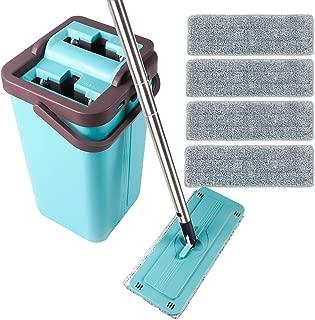 microfiber flat mop bucket