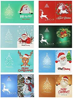 Christmas Greeting Cards Diamond Painting Kits Paint by Number Kits Christmas DIY Gift for Holiday, Friends and Family(8 Pack)