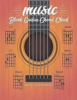 Blank Guitar Chord Chart: Manuscript Music Paper Guitar Chord Sheet 16 Chord Boxes Per Page