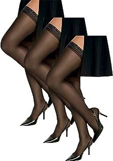 Women`s Set of 3 Silk Reflections Silky Sheer Thigh High - Best-Seller!