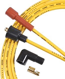 ACCEL 3008ACC 7mm Super Stock Copper Universal Wire Set - Yellow