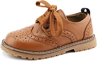 CCTWINS KIDS Toddler Little Kid Girl Boy Dress Oxford Leather Shoe