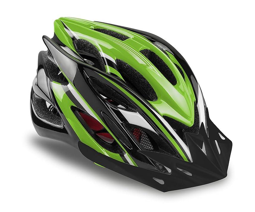 急降下オレンジ味わうKinglead自転車ヘルメット(風)超軽量サイクリングヘルメット 22通気穴大人用ヘルメット LEDライト付き 調節可能 内装やバイザー取り出す可能なロードヘルメット