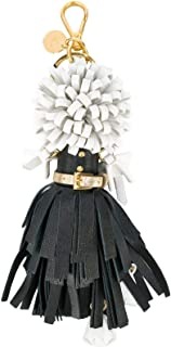 Trick in Pelle Nero Black Dress Wendy Doll Leather Keychain 1TL170
