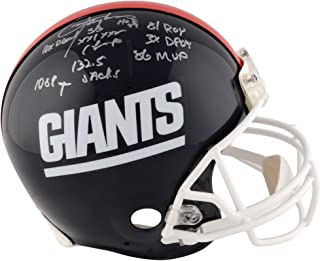 Lawrence Taylor New York Giants Autographed Riddell Throwback Pro-Line Helmet with Multiple Career Inscriptions - Limited Edition of 56 - Fanatics Authentic Certified