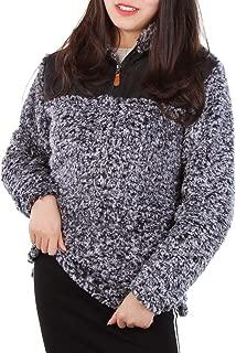 Coat Sweatshirt Outwear Long Sleeve Sherpa Fleece Pullover for Women