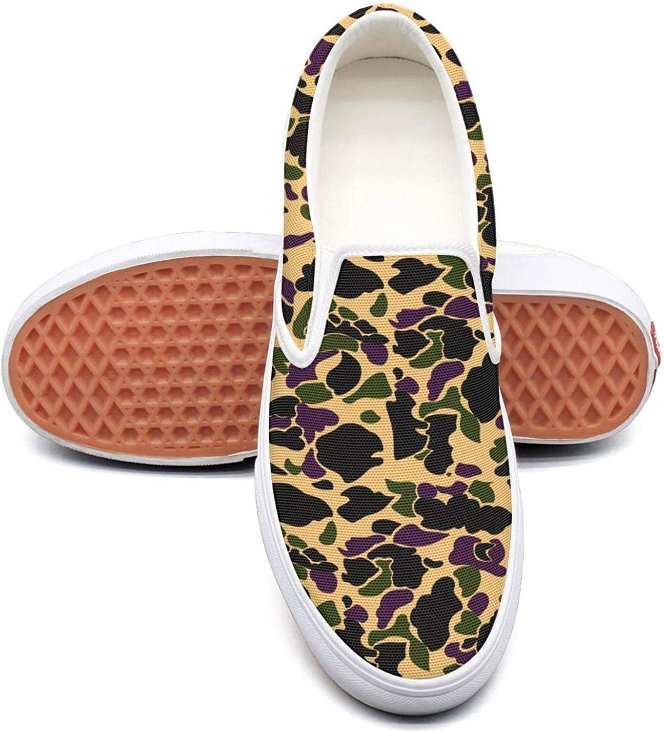 Lighweight Camouflage Flower Army Mens Slip On Canvas shoes Canvas Upper