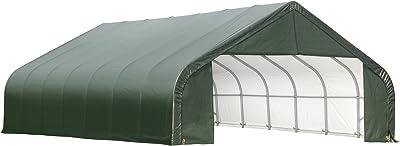 ShelterLogic 86052 Garage 28 x 28 x 16 Peak Standard Green