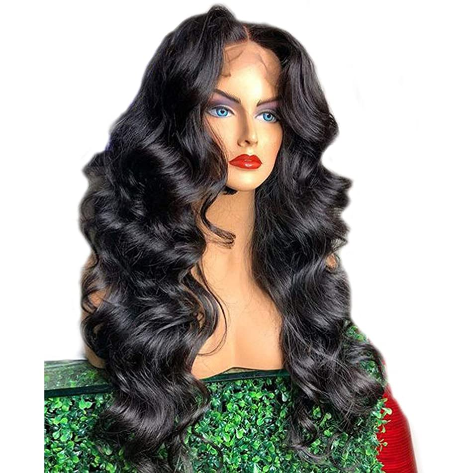 Loose Wave 360 Lace Frontal Wig Pre Plucked With Baby Hair 180 Density Full Hair Indian Temple Lace Front Human Hair Wigs Remy,8inches,180 Density
