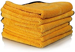 Chemical Guys MIC_507_06 Professional Grade Premium Microfiber Towel, Gold (16 in. x 24 in.) (Pack of 6)
