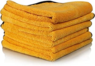 Chemical Guys MIC_506 toallas de microfibra de calidad profesional, Paquete de 6, Dorado, 16 in x 24 in