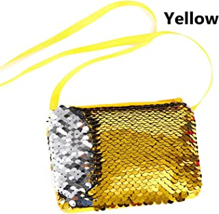 Sequins Kids Girl Glittering Purse Women Handbag Party Zipper Clutch Bag Earphone Package