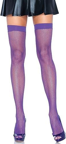 Leg Avenue Women's Nylon Fishnet Thigh Highs
