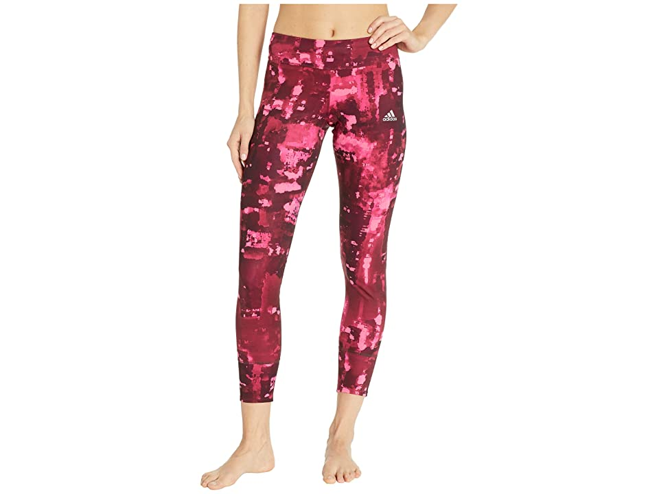 adidas Response City Magnetism 7/8 Tights (Solar Pink/Real Magenta/Noble Maroon/Night Red) Women