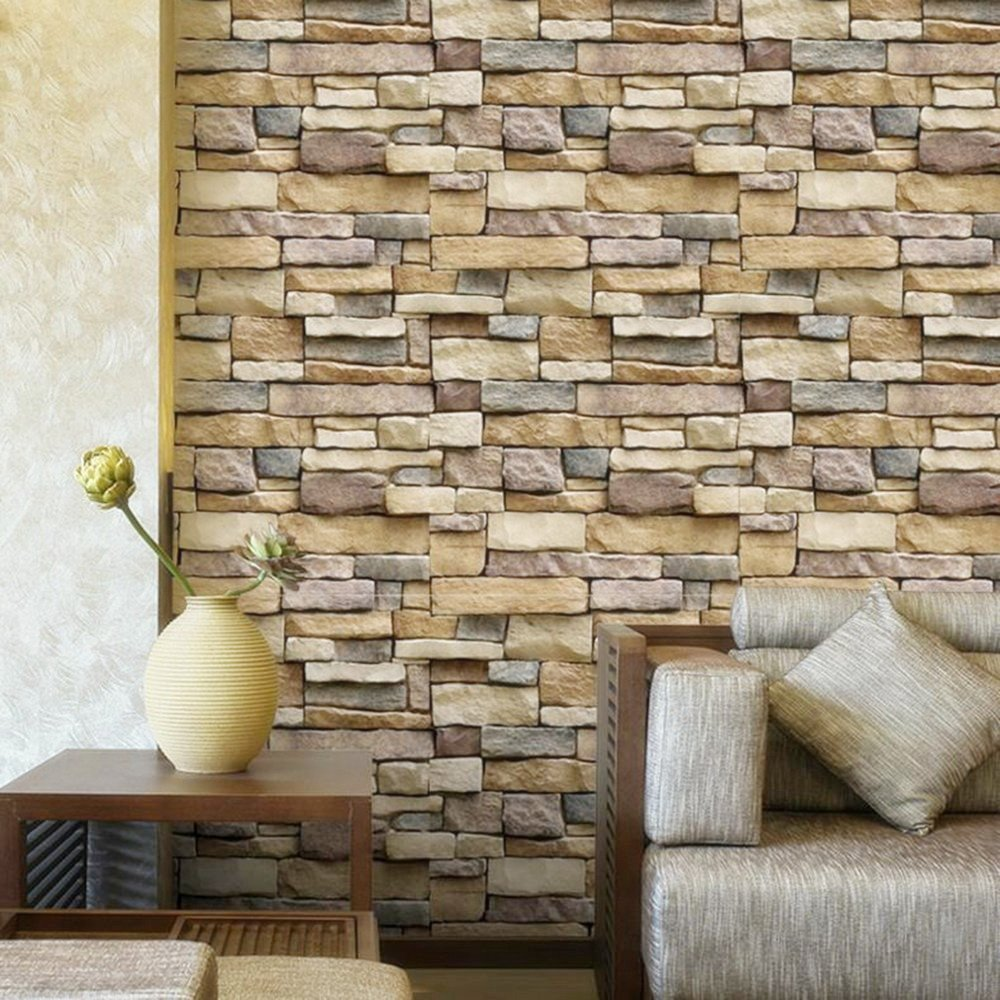 Self-Adhesive Textured Removable and Waterproof Super Large Size 33.7ft x 1.47ft//10m x 0.45m nuanyu Peel and Stick Brick Wallpaper 3D