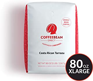 Dark Costa Rican Tarrazu, Whole Bean Coffee, 5 Pound Bag