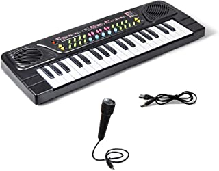 TOMMYHOME Electronic Piano Keyboard 37 Key with Microphone-K