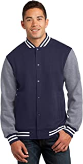 Men's Fleece Letterman Jacket
