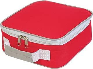 Shugon 1808-30 - Bolsa térmica para sándwich, color rojo y gris claro