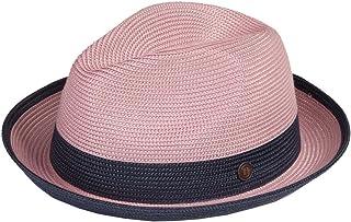 c66959b096843 Dasmarca Mens Summer Crushable   Packable Straw Fedora Hat