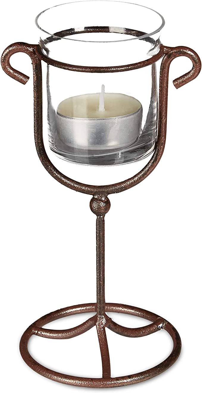 Gusseisen für eine Kerze rostig Kerzenhalter Dekoration