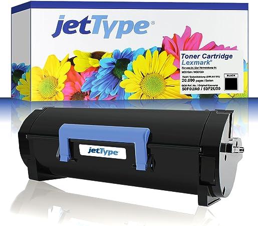 Jettype Toner Ersetzt Lexmark 50f0ua0 502ua 50f2u00 502u F Ms510dn Ms610dn Schwarz 20 000 Seiten Bürobedarf Schreibwaren