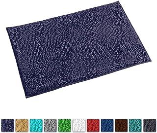 LuxUrux Bath Mat-Extra-Soft Plush Bath Shower Bathroom Rug,1`` Chenille Microfiber Material, Super Absorbent Shaggy Bath Rug. Machine Wash & Dry (20 x 30, Blue-Purple)