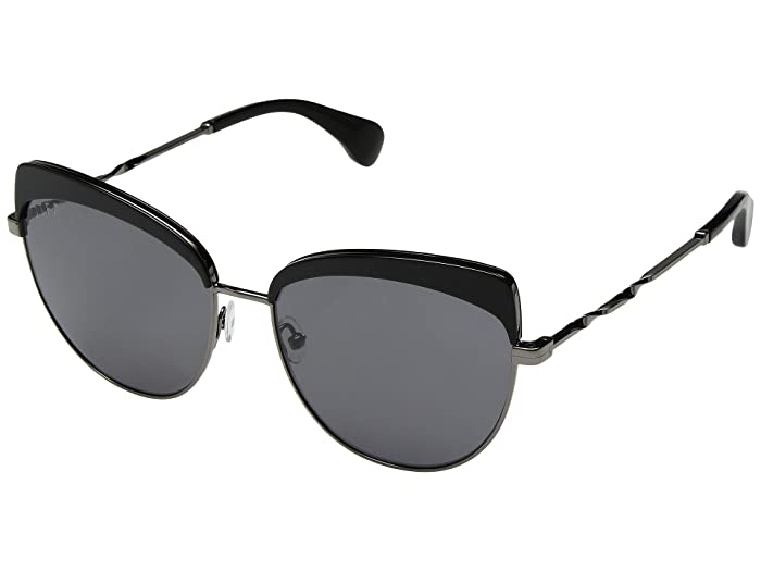 DIFF Eyewear Izzy (Black/Grey) Fashion Sunglasses