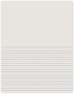Pacon PAC2695BN Newsprint Handwriting Paper, Picture Story, Grade 2, White, 1/2