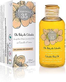 Dulàc - Aceite para el cuerpo a base de caléndula concentrada al 35% - 150 ml - 100% NATURAL - Para niños y adultos - con vitaminas E y F - 100% Made in Italy - Calendula 35