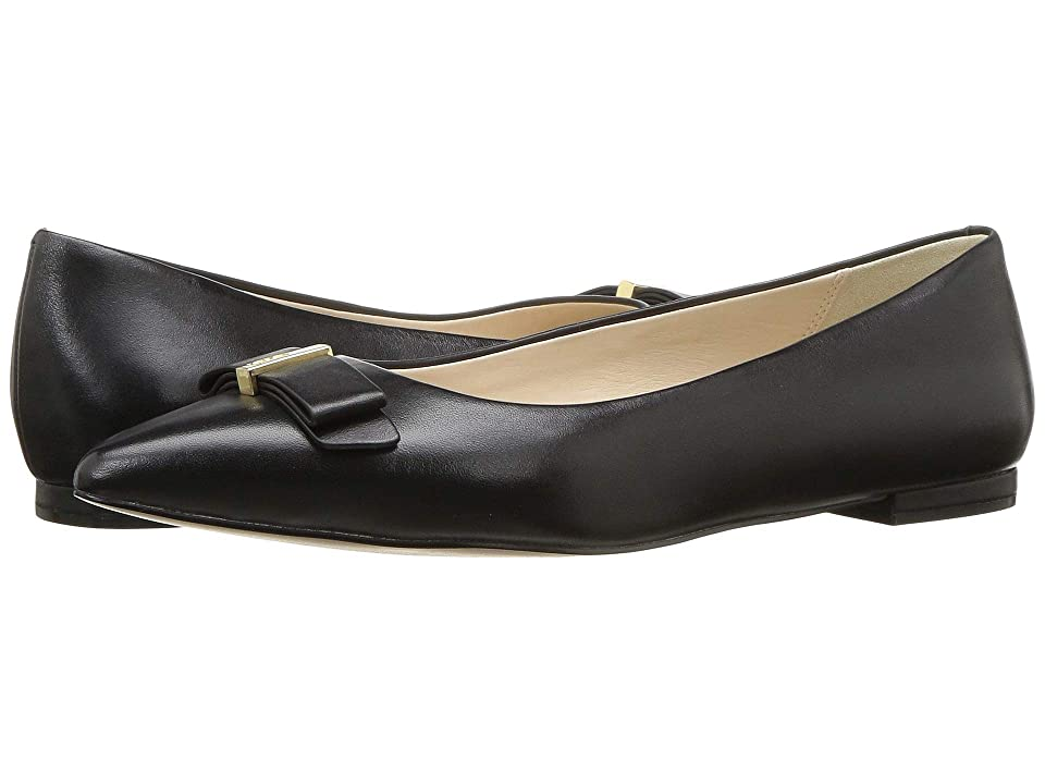 Cole Haan Elsie Bow Skimmer Ballet Flat (Black Leather) Women