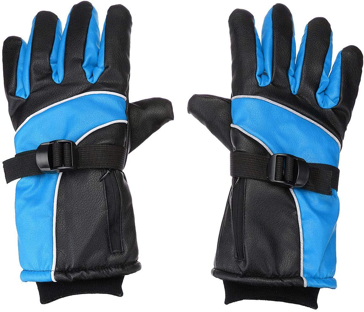 Lupovin-Keep Warm Raincoat Electric Het Gloves Motorcycle Rechargeable Battery Winter Warmer Non-Slip (Color : Blue)