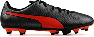 Puma Boy's Rapido Fg Jr Black-nrgy Red Ag Football Shoes