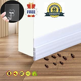 Door Draft Stopper Door Sweep Weather Stipping - Camel Home Self Adhesive Door Seal Soundproof under Door Bottom Seal Strip Rubber Energy Saver Insulasion Weatherproof , 2