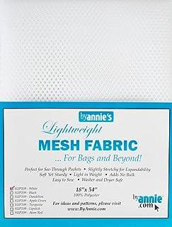"Annie Mesh Fabric Lightweight 18""x 54"" White, 18"" by 54"""