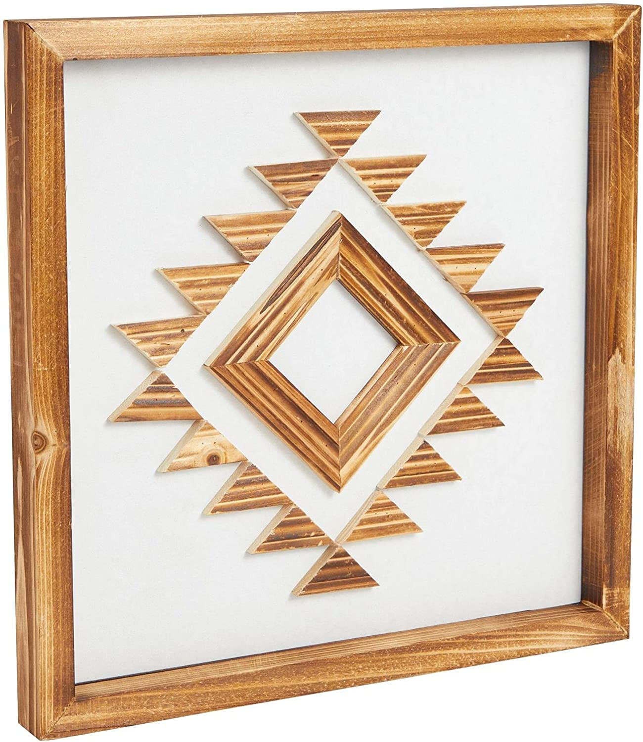 Wooden Southwest Geometric Wall Decor (13 x 13 Inches)