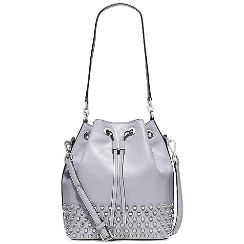 2a270c3b7138 MICHAEL Michael Kors Dottie Large Studded Bucket Bag (Dove)