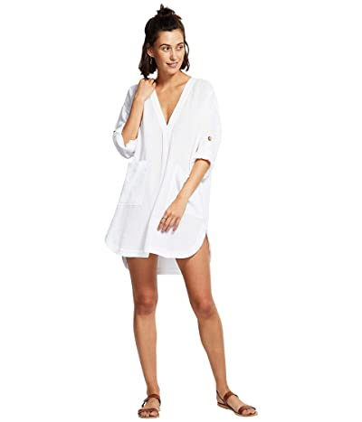 Seafolly Aloha Essential Cover-Up (White) Women