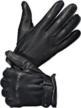 YISEVEN Men's Deerskin Leather Gloves with Classical Belt
