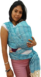Baby wrap Carrier Mexican Hand Woven rebozo Sling (Turquoise) 197