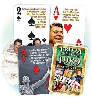 Flickback Media, Inc. 1989 Trivia Playing Cards: Happy 30th Birthday