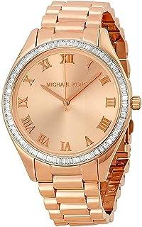 ساعة يد كوارتز للنساء من مايكل كورس بعقارب وسوار من الستانلس ستيل MK3245