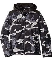Mick Softshell Moto Jacket w/ Fleece Hood (Little Kids/Big Kids)
