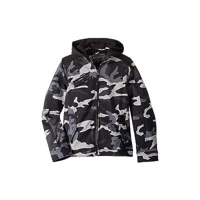 Urban Republic Kids Mick Softshell Moto Jacket w/ Fleece Hood (Little Kids/Big Kids) (Black) Boy
