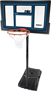 Lifetime 1529 Courtside Height Adjustable Portable Basketball System, 50 Inch Shatterproof Backboard